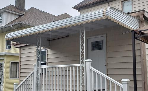 Custom Aluminum Porch Awning Installed In Staten Island NY