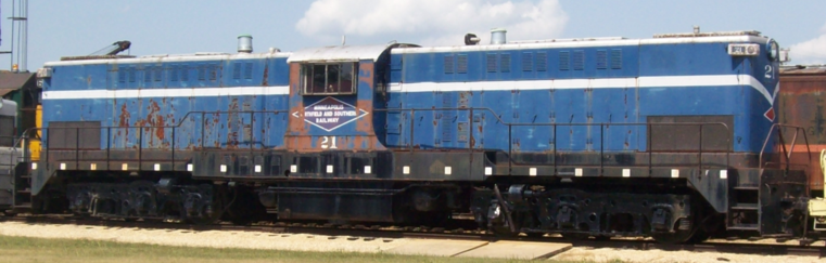 Minneapolis, Northfield and Southern No. 21, a Baldwin DT66-2000 Centercab Transfer Diesel locomotive at the Illinois Railway Museum.