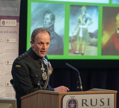 Craig Lawrence speaking at RUSI at the launch of 'The Gurkhas: 200 Years of Service to the Crwon'