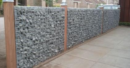 How to build a gabion fence below are example photos of gabion fences note the added wood features level wall installation started solutioingenieria Images