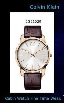 Watch Information Brand, Seller, or Collection Name Calvin Klein Model number K2G21629 Part Number K2G21629 Item Shape Round Dial window material type Mineral Display Type Analog Clasp Buckle Clasp Metal stamp no-metal-stamp Case material Stainless steel case with gold plate Case diameter 42 millimeters Case Thickness 13 inches Band Material Leather Band width 42 millimeters Band Color Brown Dial color White Bezel material Stainless Steel Special features Brown leather strap, Round rose-gold PVD stainless steel case, 43mm, Silver-tone dial with rose-gold-tone markers, two hands and logo Movement Quartz Water resistant depth 30,calvin klein canada