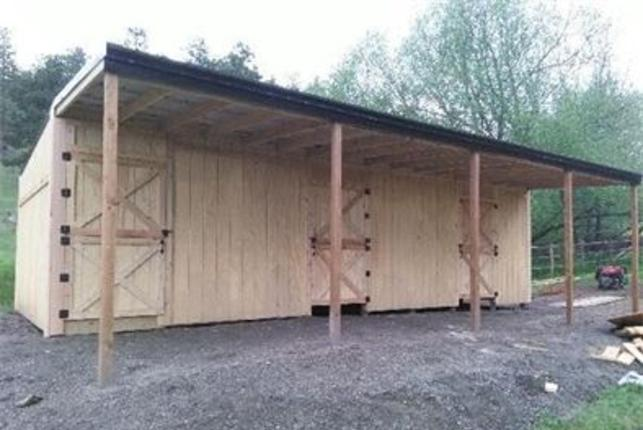 Loafing sheds, Row barns, Pole Barns, Barn, Barns, run-in barns, Dutch Doors,Storage Sheds