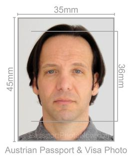 Austrian Passport and Visa Photo