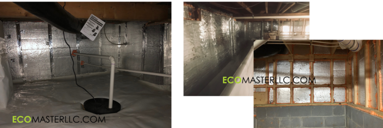 wall board insulation crawl space by EcoMaster LLC