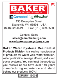 Baker Water Systems, Campbell, Water Well Products