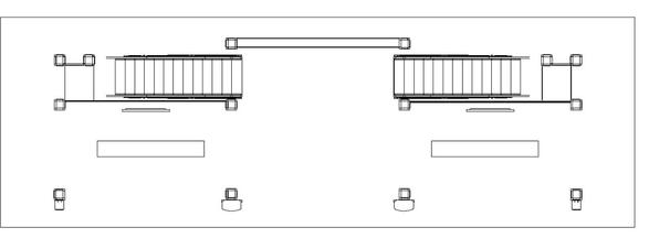 Diagram of a 20 x 60 two story trade show booth.