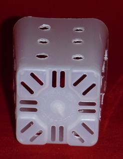 extra holes clear plastic orchid pot 2.25 inch square slots small
