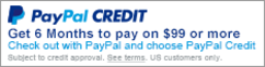get paypal credit on $99 or more