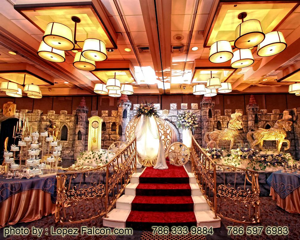 Quinces Parties Miami Photography Quinceanera party stage decoration cinderella theme cenicienta 15 anos