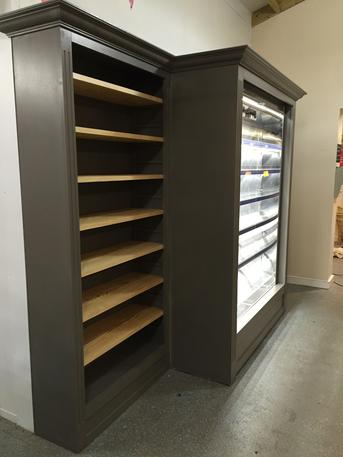 Installation of Bespoke new shop storage unit