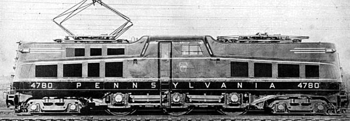 Pennsylvania Railroad class P5a (modified) electric locomotive, circa 1946.