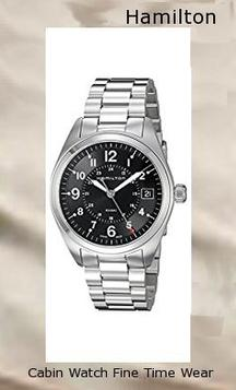 Product specifications Watch Information Brand, Seller, or Collection Name Hamilton Model number H68551933 Part Number H68551933 Model Year 2011 Item Shape Round Dial window material type Anti reflective sapphire Display Type Analog Clasp Fold-over-clasp-with-double-push-button-safety Case material Stainless steel Case diameter 40 millimeters Case Thickness 10 millimeters Band Material Stainless steel Band length Men's Standard Band width 20 millimeters Band Color Silver Dial color Black Bezel material Stainless steel Bezel function Stationary Calendar Date Special features Luminous, Water Resistant Item weight 16 Ounces Movement Swiss quartz Water resistant depth 165 Feet,hamilton watch