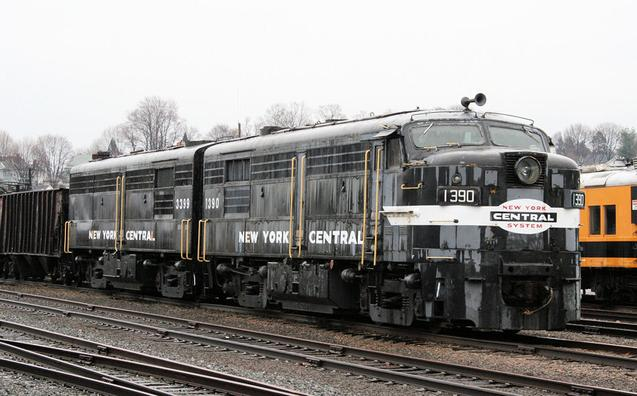 New York Central MLW FPA-4 Diesel Electric locomotive No. 1390.