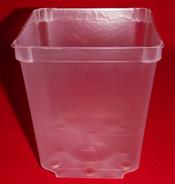 clear plastic orchid pot 3.5 inch square oles small drainage air circulation no color aeration