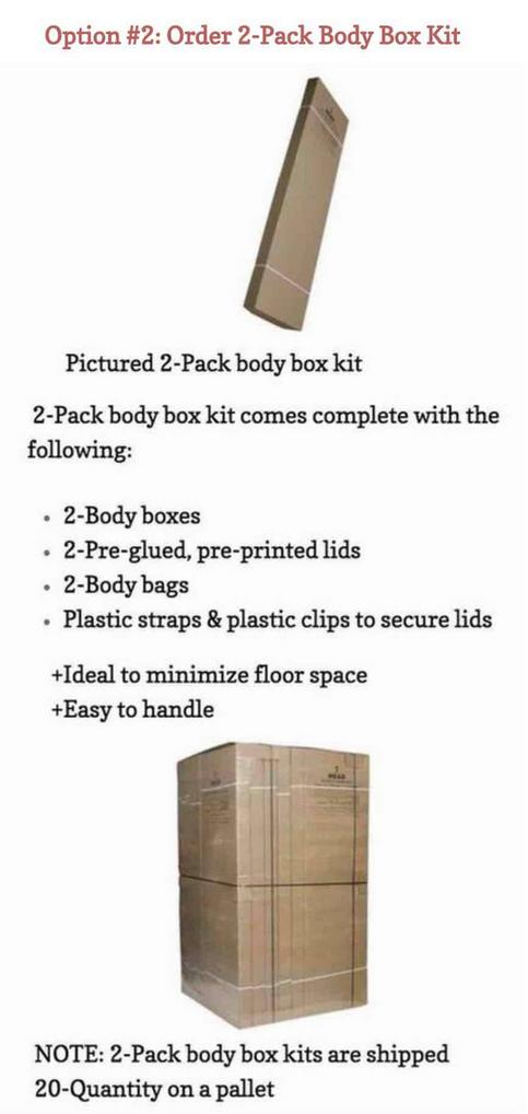 ORDER: 2-pack body box containers