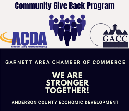 Community Give Back Program, Garnett, KS