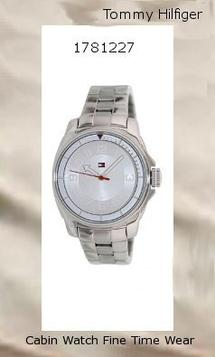 Watch Information Brand, Seller, or Collection Name Tommy Hilfiger Model number 1781227 Part Number 1781227 Item Shape Round Dial window material type Mineral Display Type Analog Clasp Deployment clasp with push-button Case material Stainless steel Case diameter 38 millimeters Case Thickness 10.1 millimeters Band Material Stainless steel Band length Women's Standard Band width 17.8 millimeters Band Color Silver Dial color Silver Bezel material Stainless steel Bezel function Stationary Special features measures-seconds, Luminous Movement Quartz Water resistant depth 99 Feet