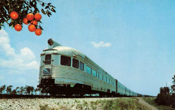 Postcard depiction of the Seaboard Air Line Silver Meteor.