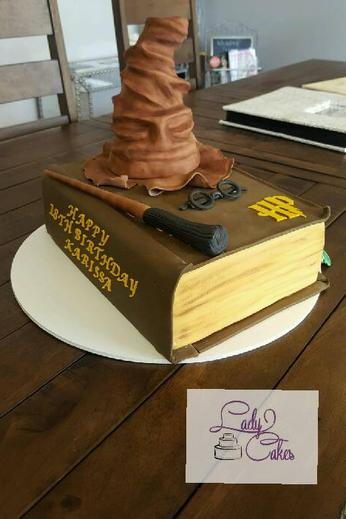 Harry Potter Custom Cake, harry potter, custom cakes, boy birthday cakes, ladycakes cape coral, cape coral cakes, ladycakes bakery