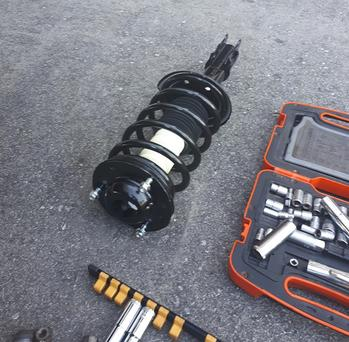 Auto Parts; Shocks and other repairs are often become part of the scene
