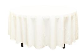 "108"" WHITE TABLECLOTH"