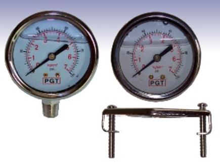 Panel-Mount Pressure Gauge, Side-Mount Pressure Gauge