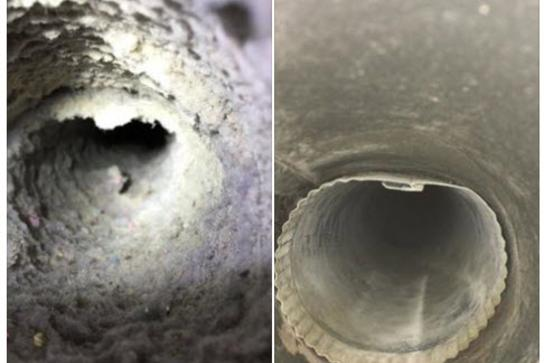 Before and after our air duct cleaning services in San Diego, CA