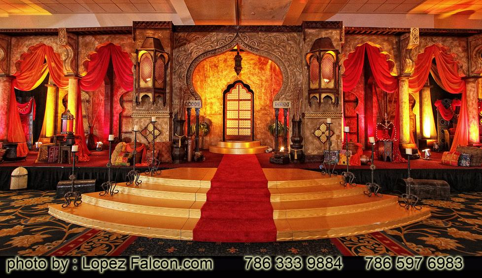 Arabian Nights Quinceanera Stage Miami Decoration