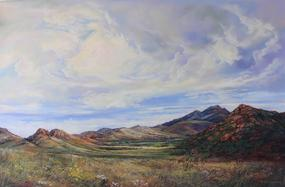 "Open Range, 24"" x 30"" pastel by Lindy C Severns"