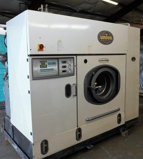 A refurbished dry cleaning machine