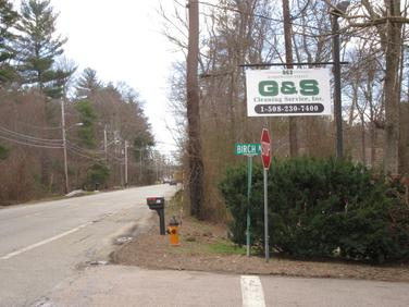 G an S street sign at 863 Washington st. South Easton, Ma. 02375