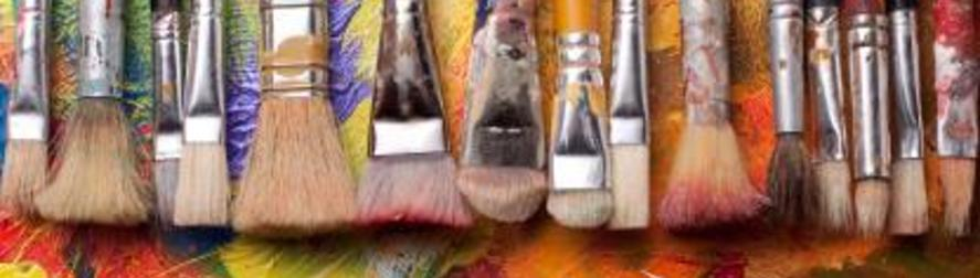 A picture of colorful paint brushes.