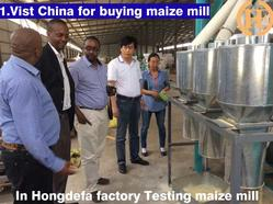 visiting China checking maize milling line is running