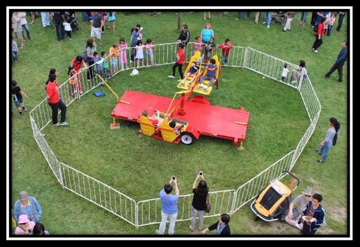 wizzer ride for rent set up at event