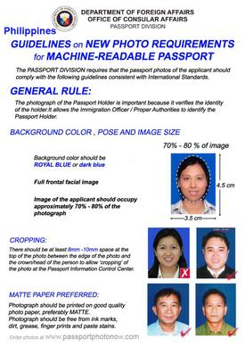 Philippines Passport and Visa Photos Printed and Guaranteed accepted