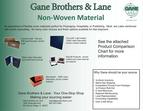 Non -woven Product Comparison Chart