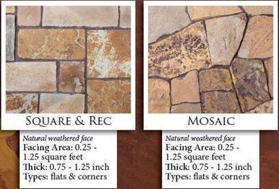 Stoneyard Rustic Tan Thin Building Veneer Sizes & Dimensions