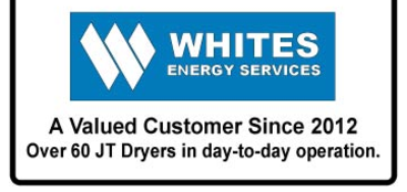 JT Series Refrigerated Compressed Air Dryers have been used by White's Energy Services since 2012, with over 60 units in service.