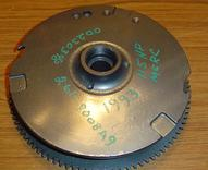 9008A9, A10, 859236T10, 878227T4, 859236T11 Used flywheel for a 1993 4 cylinder 115 hp Mercury and Mariner outboard motor. 859236T10, 878227T4, 859236T11, T12