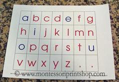 Montessori Print Shop printable Moveable Alphabet