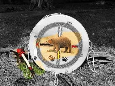 a thunder valley drums painted thunder drum