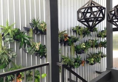(Wall planter,Vertical garden,Living wall,Green wall)