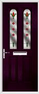 2 Panel 2 Arch Composite Door fleur-de-lys glass