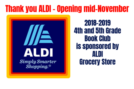 Thank you Aldi for sponsoring 4th and 5th grade book club