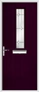 1 Square Composite Door regal opal glass