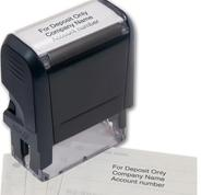 Custom self-inking Cheque Deposit or Endorsement stamp