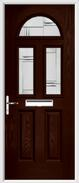 2 Panel 2 Square 1 Arch Composite Door regal corenet glass