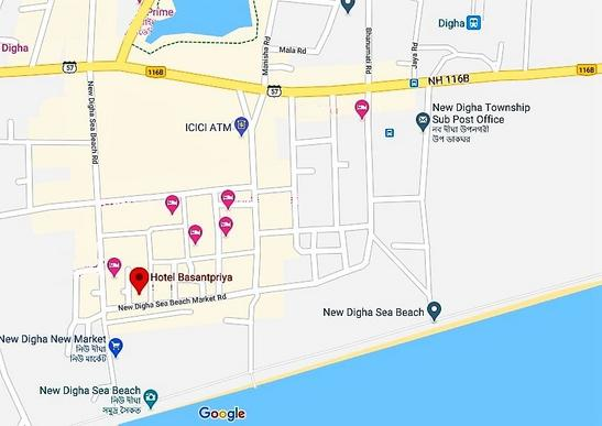 Map Of Hotel Basant Priya In Digha
