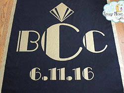 great gatsby wedding aisle runners