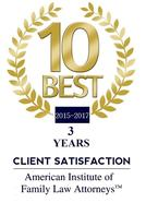 Charlotte Family Lawyer Top Client Satisfaction Award
